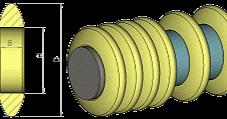Tragrollen-Stützringe