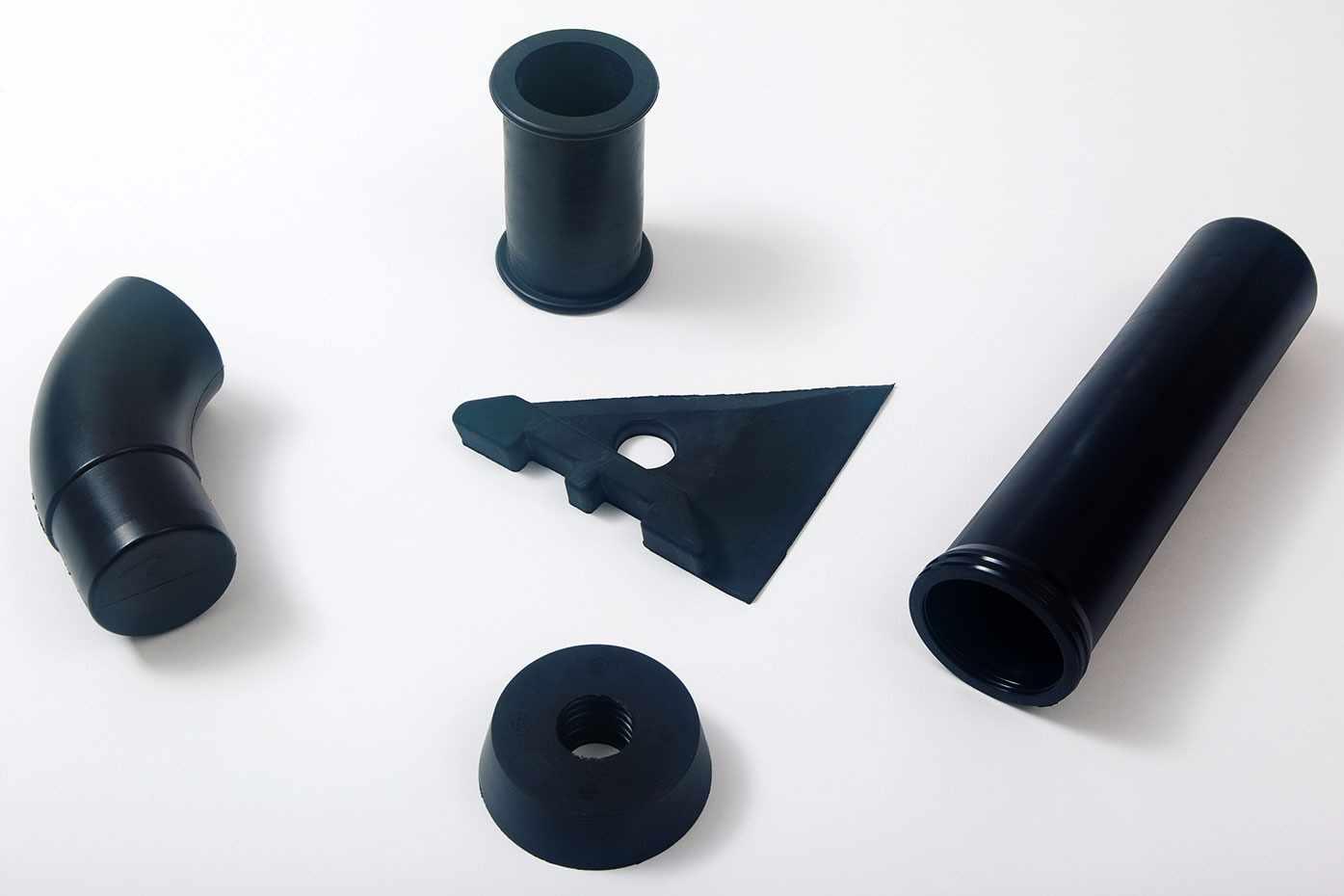 Rubber vormproducten