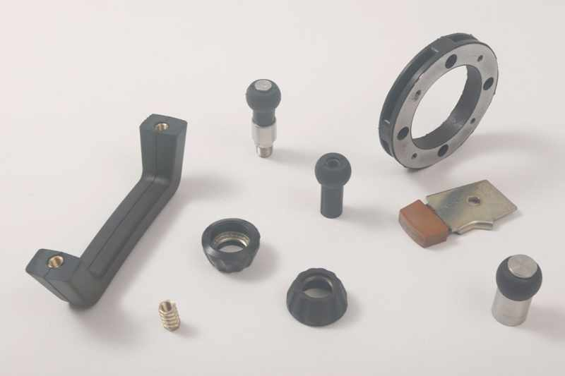 Rubber to metal bonded products
